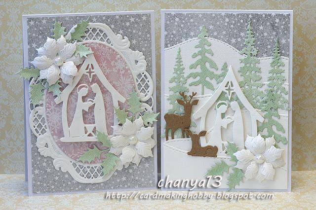 180. Pastelowe kartki świąteczne
