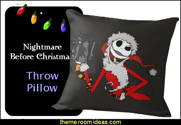 CHRISTMAS the nightmare before christmas Throw Pillow CHRISTMAS