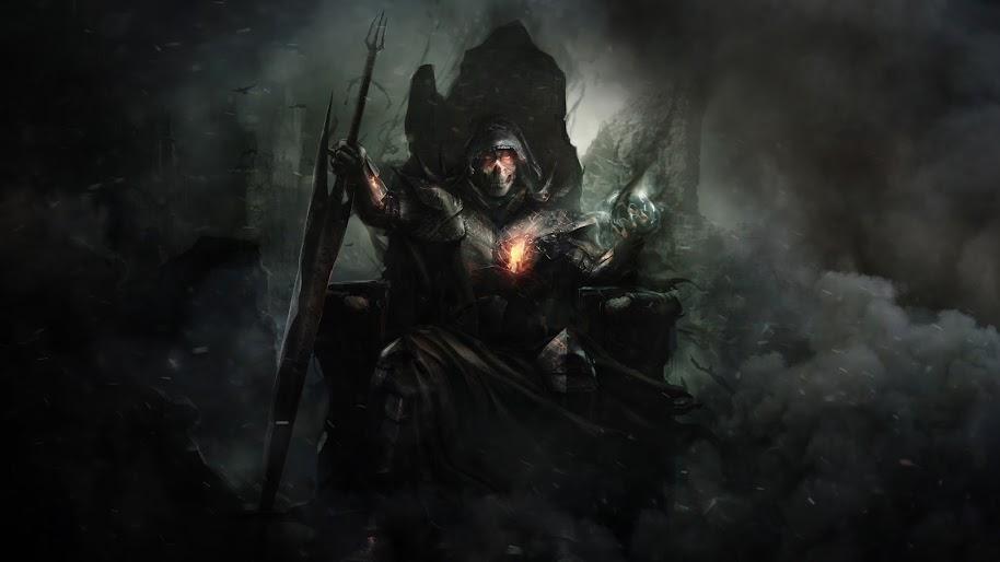 Warrior Throne Fantasy 4k 150 Wallpaper