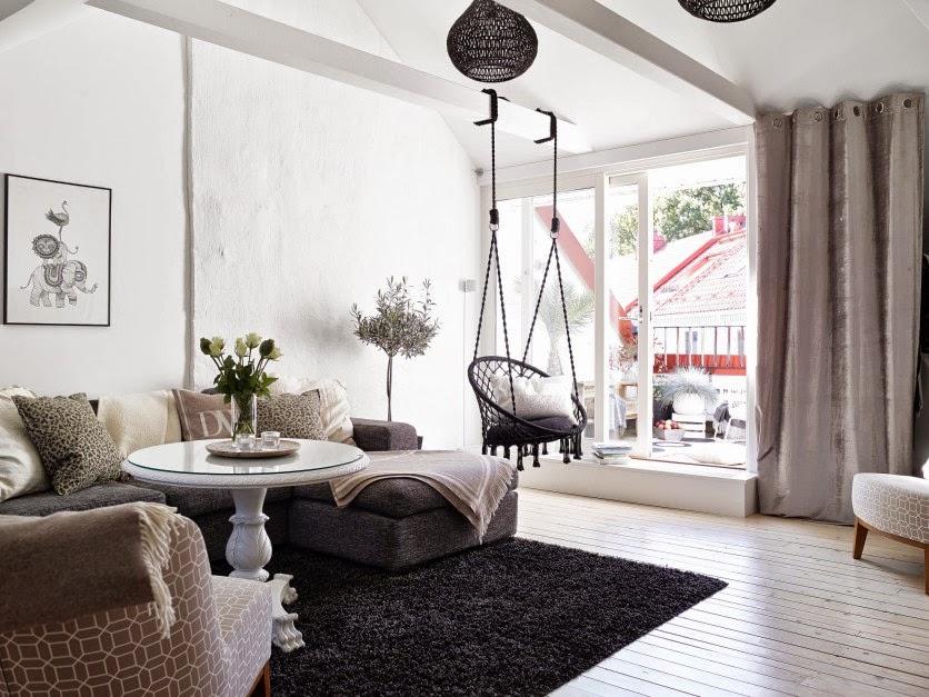 Bello interior de una casa acogedora decorada con encanto - Casas de decoracion ...