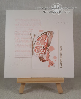 CAS card with A. Renke design paper