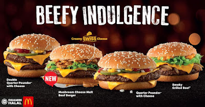 Mushroom Cheese Melt Beef Burger mcdonalds