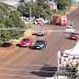 Acidente é registrado na rua Tiradentes em Laranjeiras do Sul