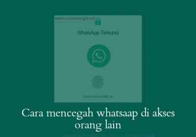 Fitur sidik jari whatsapp