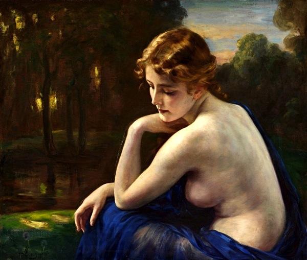 Otto Theodore Gustav Lingner - Nudo di giovane donna - topless