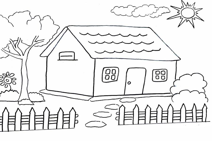 Sketsa Gambar Rumah Anak Sd Rumah Joglo Limasan Work