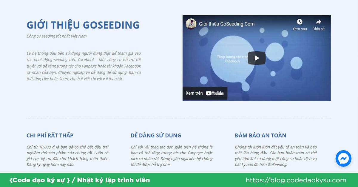 GoSeeding- Nhận 1000 lượt theo dõi miễn phí