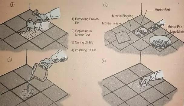 replace broken tiles