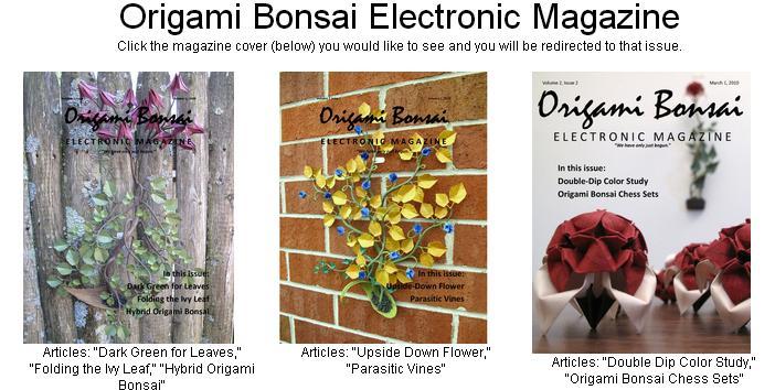 10 Revistas para crear Bonsais de Origami