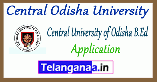 Central Odisha University B.Ed Application Form 2019 Entrance Admit Card
