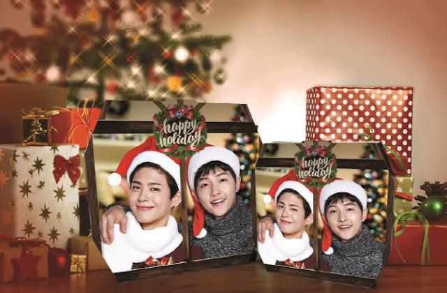 達美樂披薩推出聖誕節限定 朴寶劍-宋仲基 新包裝紙盒