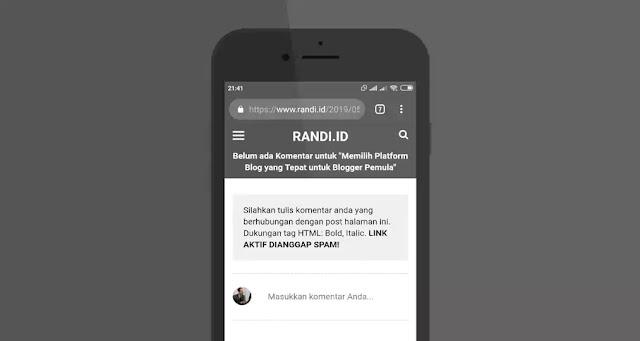 Cara Mengatasi Kolom Komentar Blog Hilang di Versi Mobile
