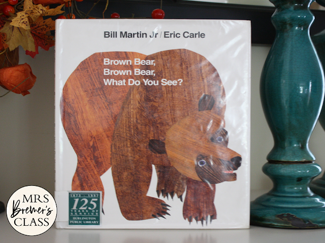 Brown Bear book study activities unit with Common Core aligned literacy companion activities, a craftivity, and a class book for Kindergarten and First Grade