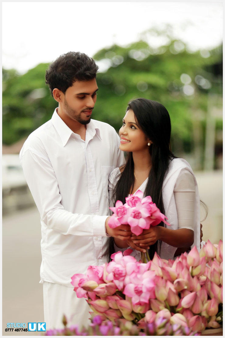 Bien-aimé Sri Lanka Famous Poson Couple Album[Studiouk Sri Lanka]-15 Photos  RX76