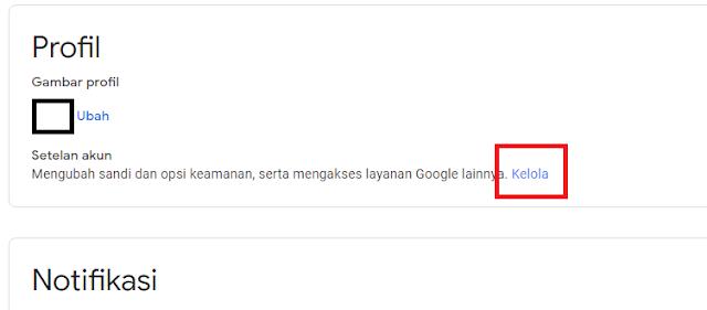Kelola akun Google