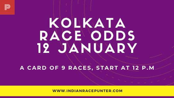 Kolkata Race Odds 12 January