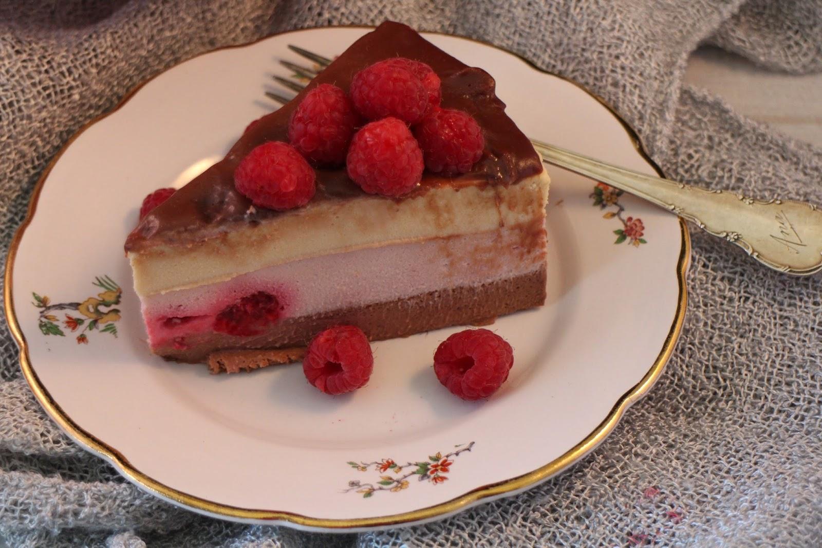 chocolate-raspberry-and-vanilla-mousse-tart, tarta-mousse-de-chocolate-frambuesas-y-vainilla