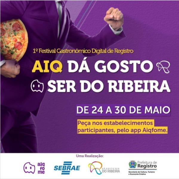 Registro-SP recebe 1 Festival Gastronômico Digital de 24 a 30 de maio