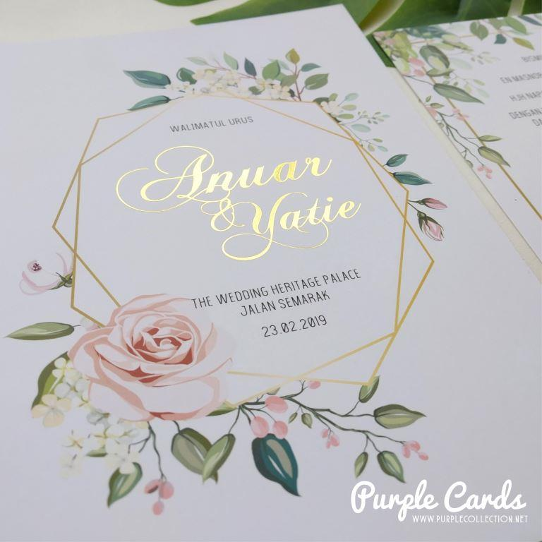 Kad Kahwin Pastel Floral Wedding Invitation