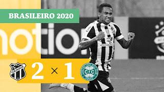 Gols – Red Bull Bragantino 2 x 0 Goiás – Ceará 2 x 1 Coritiba