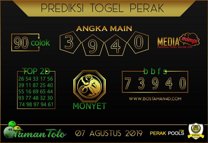 Prediksi Togel PERAK TAMAN TOTO 07 AGUSTUS 2019