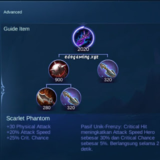 penjelasan lengkap item mobile legends item scarlet phantom