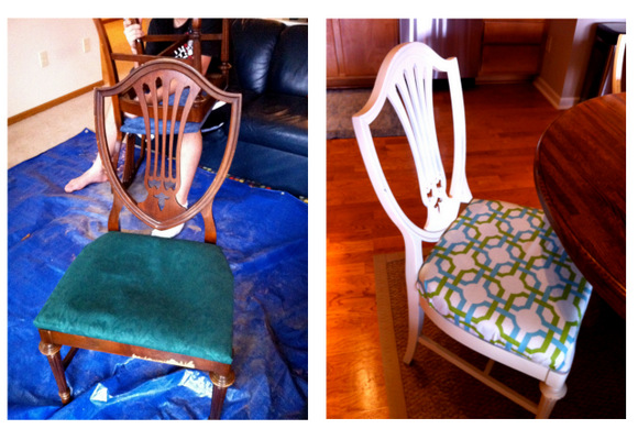 Dining Room Chair Before And After Wood To White