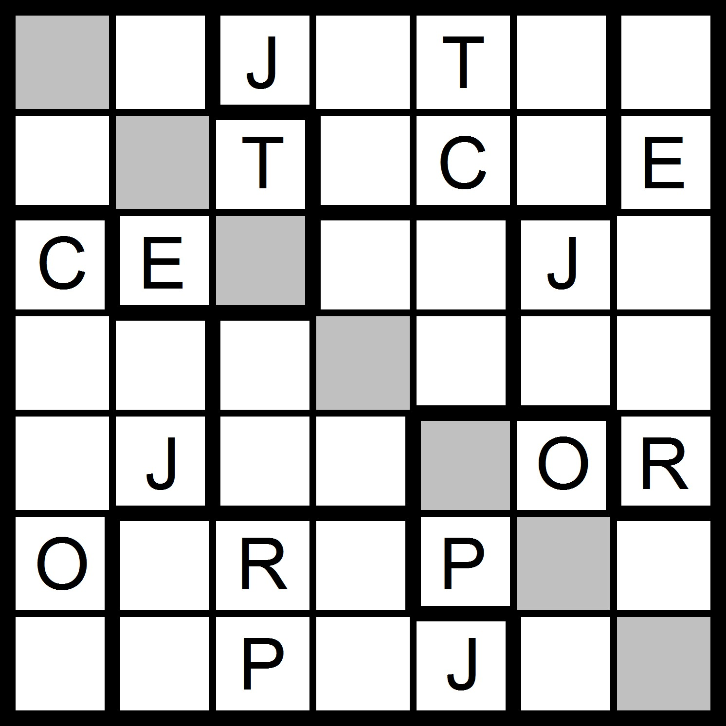 Magic Word Square: New Word Sudoku Puzzles for Friday, 10/13/2017