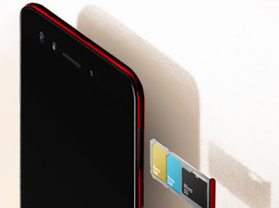 Oppo F3 Red's 4G Dual SIM and Expandable Memory Triple-Slot Tray