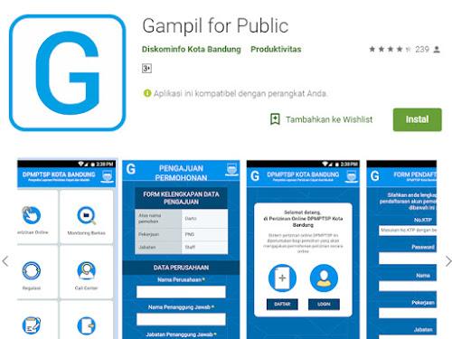 Aplikasi Gampil Kota Bandung