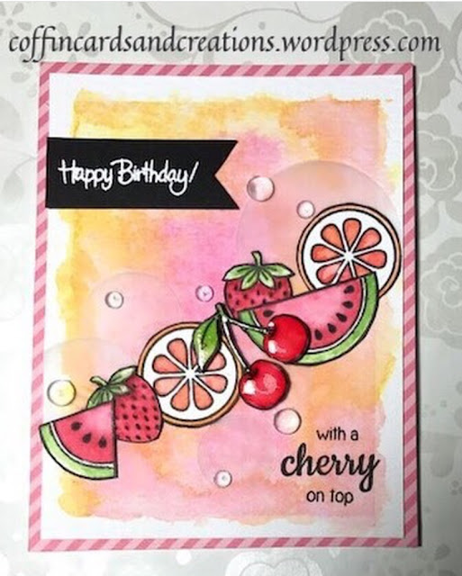 Sunny Studio Stamps: Fresh & Fruity Fruit Card by Tricia Coffin