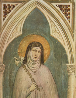 This fresco depicting Clare of Assisi was painted by the Italian artist Giotto in 1325