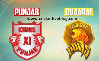 punjab vs gujarat ipl t20 live cricket score 2016