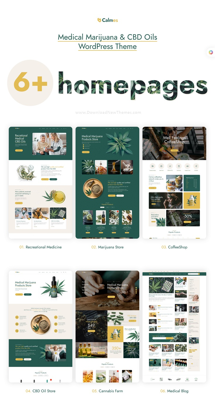 Medical Marijuana & Coffee shop Premium WordPress Theme