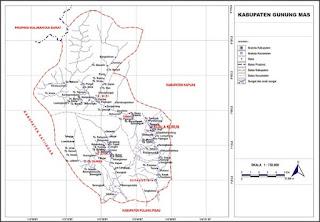 Peta Kabupaten Gumas