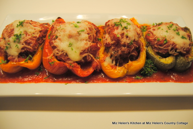 Italian Stuffed Peppers at Miz Helen's Country Cottage