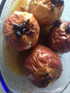 Manzanas después del horno