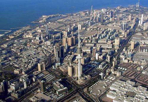 Vista aérea da cidade de Kuwait