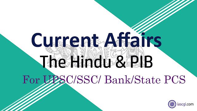 Current Affairs 01st September 2018 The Hindu, PIB
