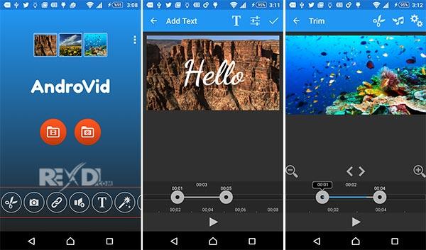 AndroVid -  10 Aplikasi Edit Video Terbaik untuk Smartphone 2019