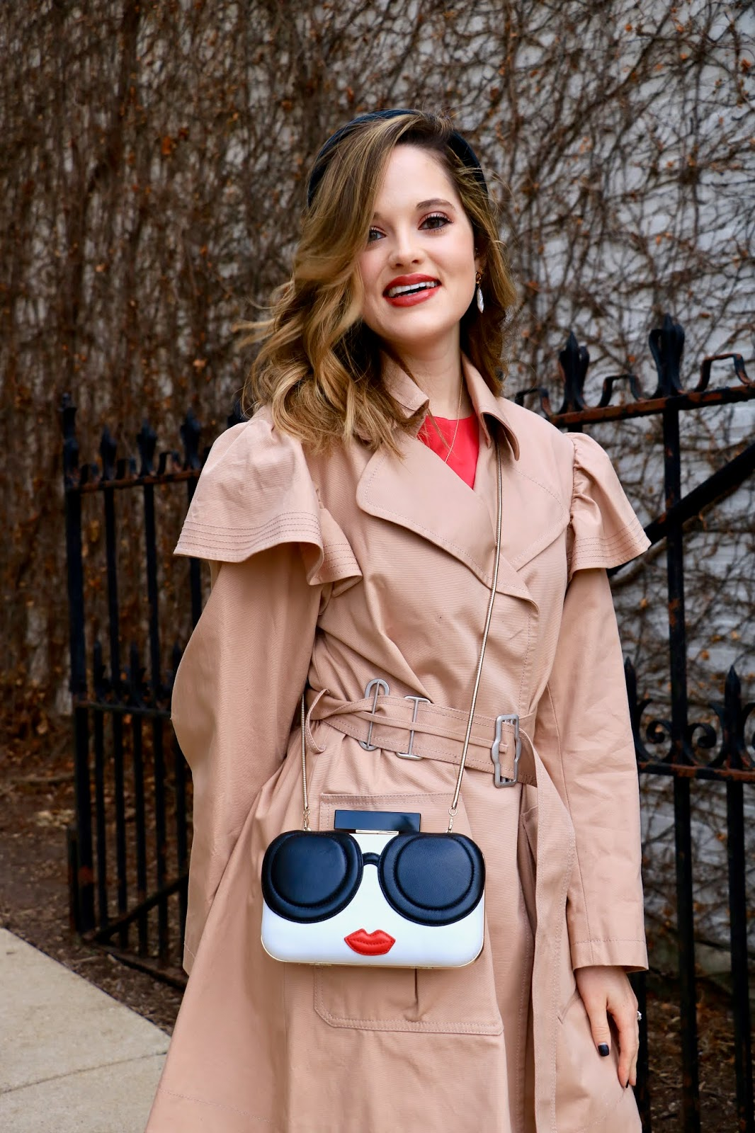 Nyc fashion blogger Kathleen Harper wearing a winter or fall date night outfit in 2020.