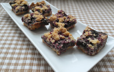 Blueberry Lime Crumble Bars