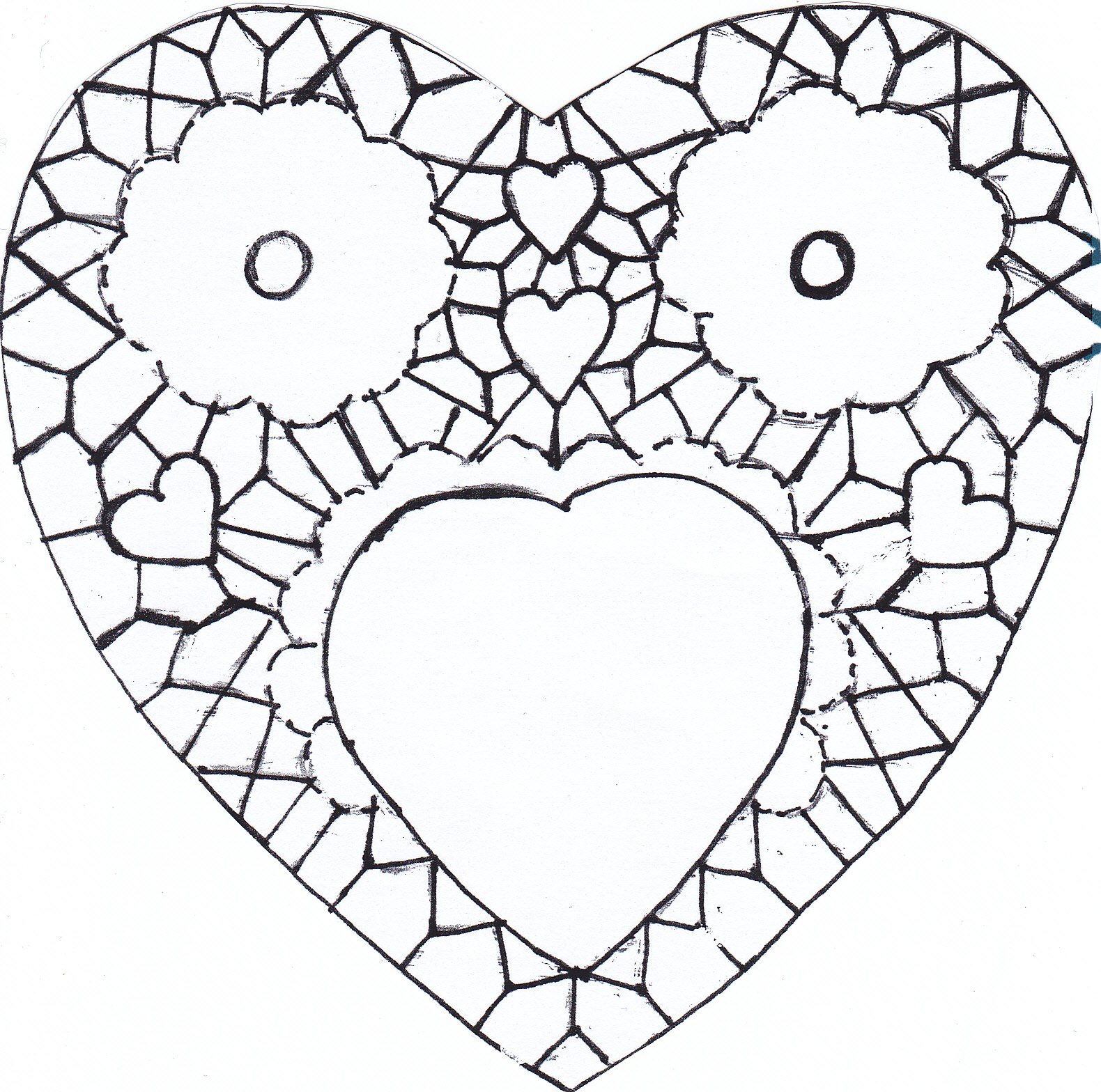 The Laboratory: Paper Heart Doily in Irish crochet
