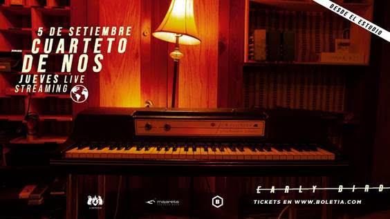 Todo listo para el primer show vía streaming de 'Cuarteto de Nos'