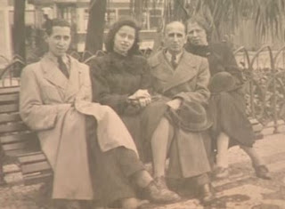 Gutmann family in Lisbon - 1941 left to right - Herbert James, Steffi Mirjam, Alfred and Lina (From USC Shoah Foundation site)