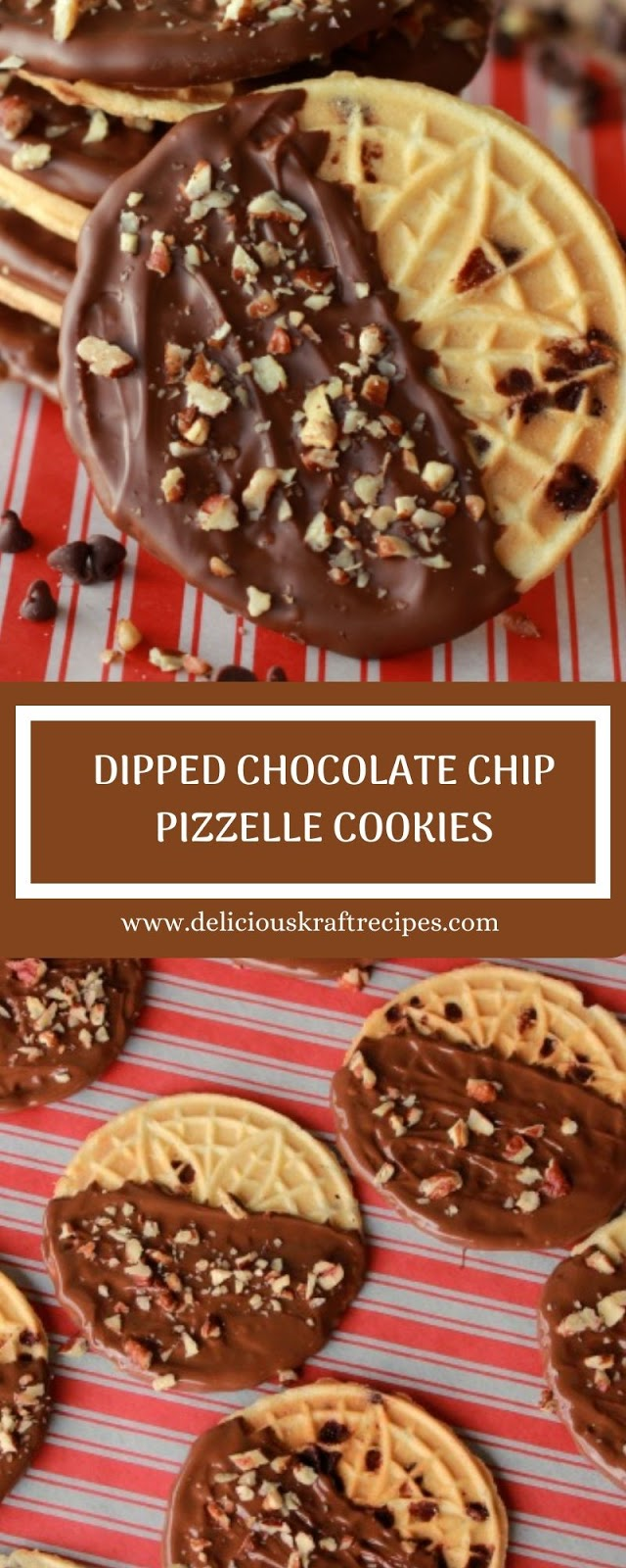 DIPPED CHOCOLATE CHIP PIZZELLE COOKIES