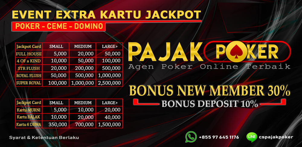 Bonus Lucky Card DominoQQ - PajakPoker