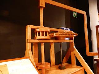 LEONARDO INTERACTIVE MUSEUMの展示歯車模型