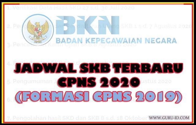 gambar jadwal SKB terbaru 2020 formasi cpns 2019