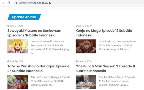 Cara Download Anime di Samehadaku.tv lewat HP Android dan PC